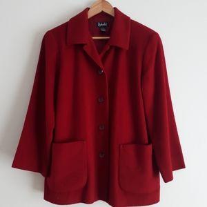 Vintage Red Wool Cashmere Blend Coat